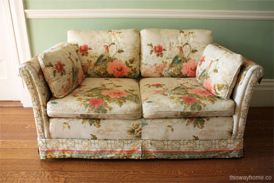 Floral Loveseat Hollywood Regency