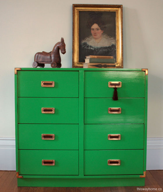 ... For A Campaign Dresser For Several Months When I Spotted The Perfect  Piece On Craigslist. It Had Sturdy Dovetail Construction And Solid Brass  Hardware.